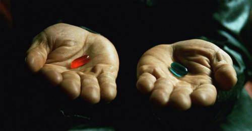 red pill-blue pill choice