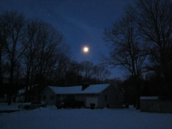 moon on a wintry night
